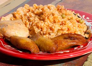 arroz con pollo dish